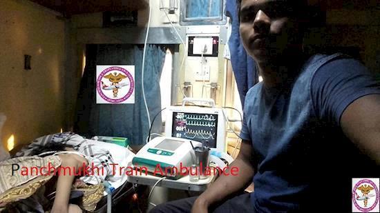 India's best Train ambulance service Panchmukhi in Bangalore