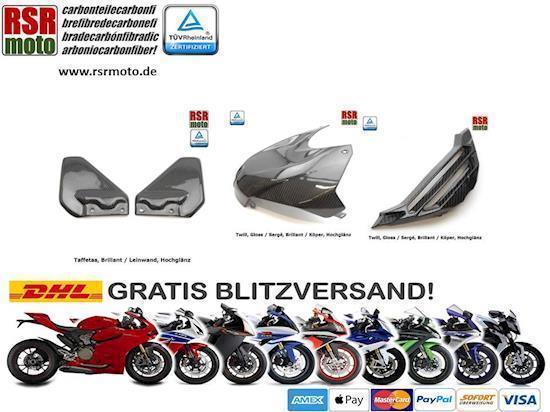 Installieren Sie Motorrad Carbon Teile - RSR Moto