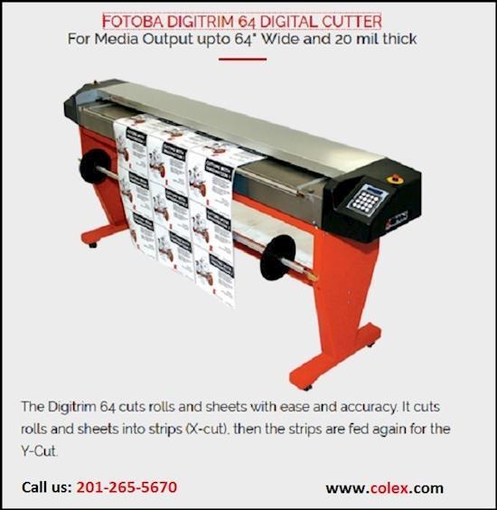 Colex Sharpcut Cutter | FOTOBA DIGITRIM 64 DIGITAL CUTTER | Elmwood Park NJ 07407