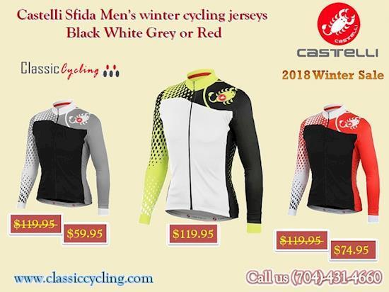 Winter Sale 2018 || Men's Long Sleeve Winter Red Jersey