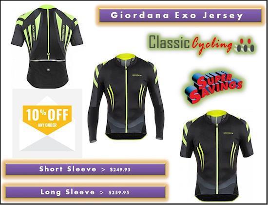 Men's Cycling Apparel | Giordana Exo Long Sleeve Jersey