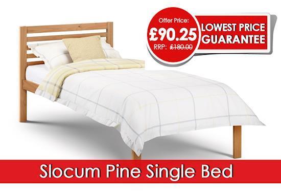 Julian Bowen Slocum Pine Single Bed : £91.25 | Furniture Direct UK