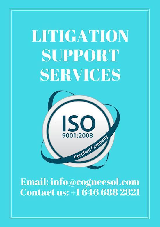 Litigation Support Services – Cogneesol Inc.