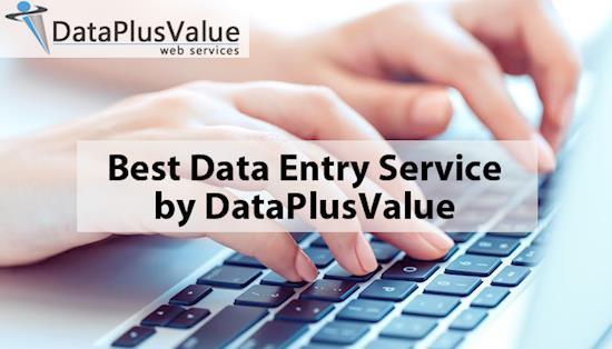 Best Data Entry Service by DataPlusValue