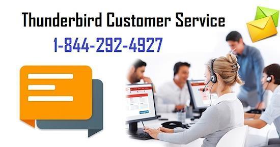 Contact Thunderbird customer service at 1-844-292-4972