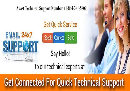 Avast Customer Support Phone Number 1-844-381-5809 USA