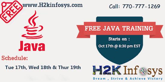 JAVA / J2EE Free training by Mr Rishi (Oct 17th-19th)