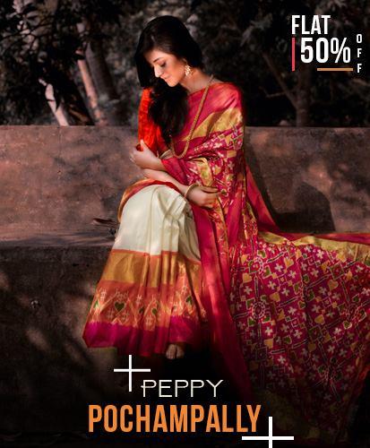 Buy handloom pochampally Silk Sarees from shatika