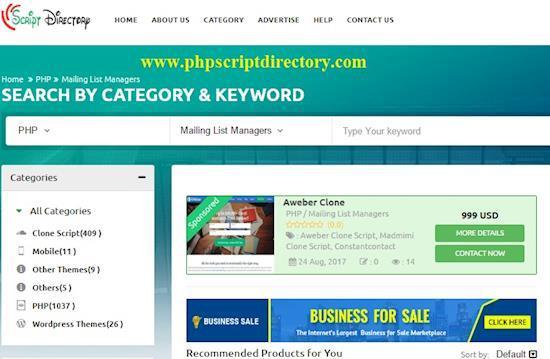 Mailing List Management Script, Mailing List Script- phpscriptdirectory