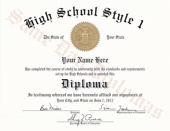 Replacement High School Diplomas