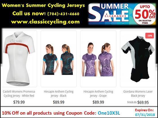 50 % Discount on Women's Cycling Jerseys | 2018 Huge Clearance Sale