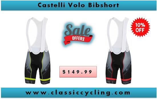 Castelli Volo Bib Short - Black/Fluo | Men's Cycling Clothes | Men's Cycling Apparel