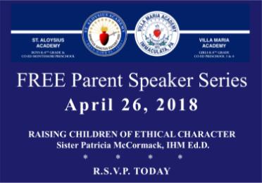 Free Parent Speaker Series at Villa Maria Academy Lower School