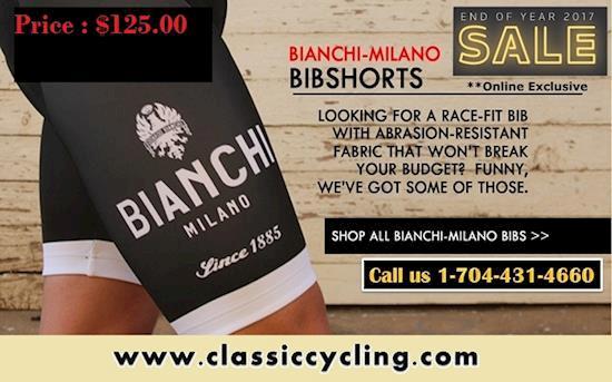 2017 End Sale on Bianchi Milano bib shorts | Call (704)-431-4660