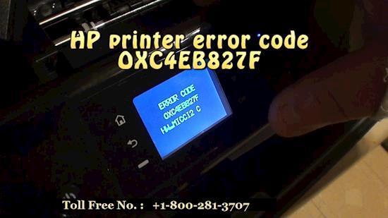 Fix HP Envy 4500 error code OXC4EB827F Call 8002813707