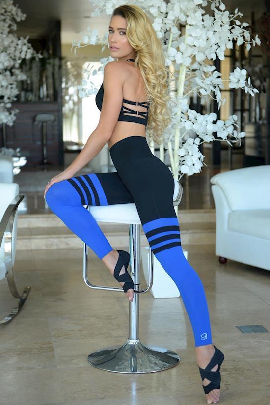 b2275609558bc Women's Stripes Leggings at Bombshell Sportswear Women's Clothing Store