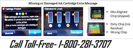 Fix HP Printer Cartridge Error Message Call +1-800-281-3707
