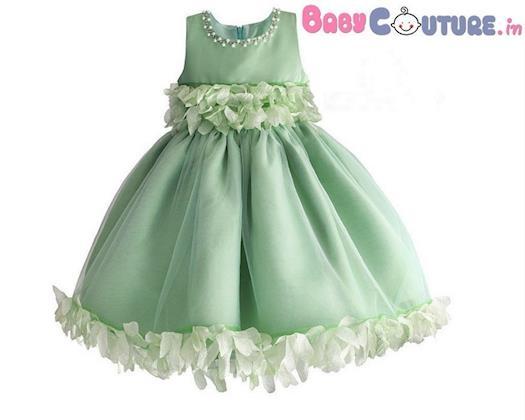 Greeny Love 3D Flower Kids Dress BabyCouture
