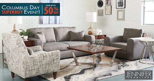 Columbus Day Event - Buy Living Room Furniture at Jennifer Furniture