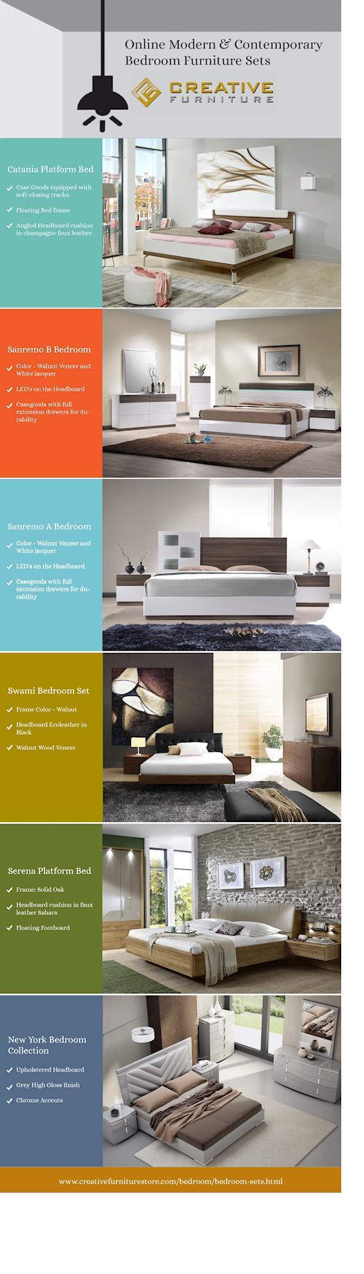 Online Modern & Contemporary Bedroom Furniture Sets
