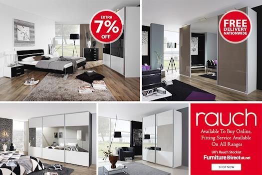 Rauch Bedroom Furniture Sale   Quadra Gliding Door Wardrobe    Furniture Direct UK