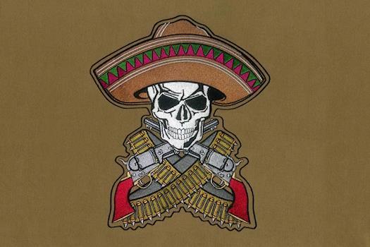 Dangerous Cowboy Evocative Embroidery Design