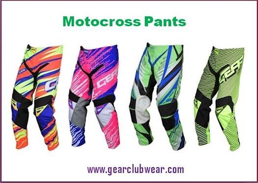 Motocross Gear Pants From Gear Club Wear Online Store