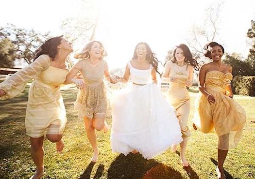Garden Wedding Bridesmaids