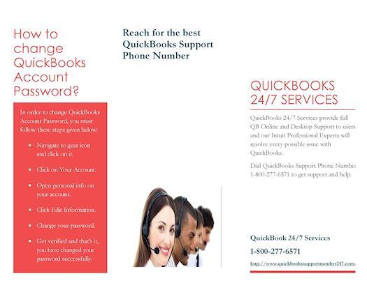 How to change QuickBooks Account Password? QuickBooks Support Phone Number 1-800-277-6571