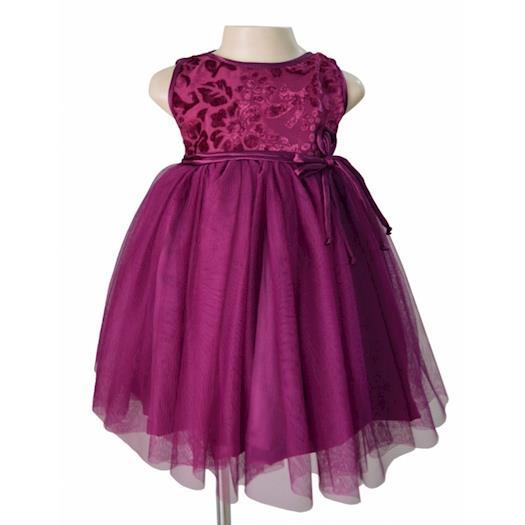 Girls Designer Dress Online in Plum Colour