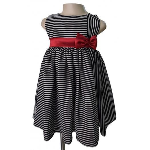 Dresses for Kids in Black and White Stripes