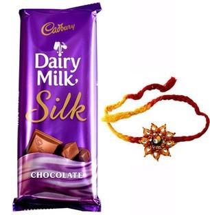 Buy Online Rakhi with chocolate