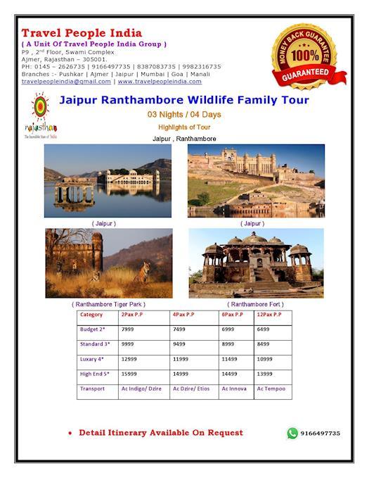 Jaipur Ranthambore Wildlife Tour