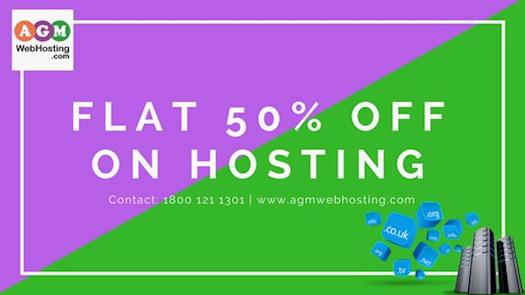 Get flat 50% Off on all Web Hosting.