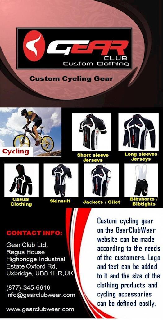Custom Cycling Gear   Gear Club Ltd