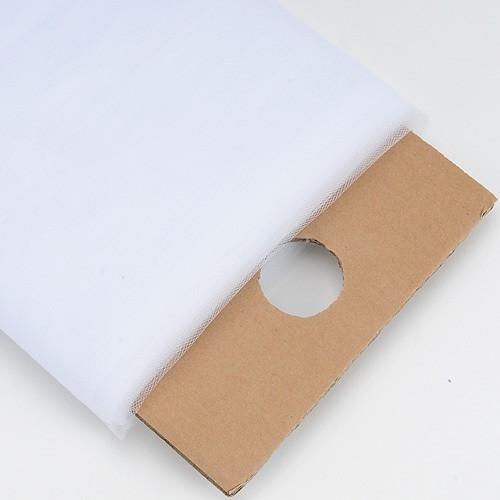 54 inch White 54 Inch Premium Tulle Fabric Bolt