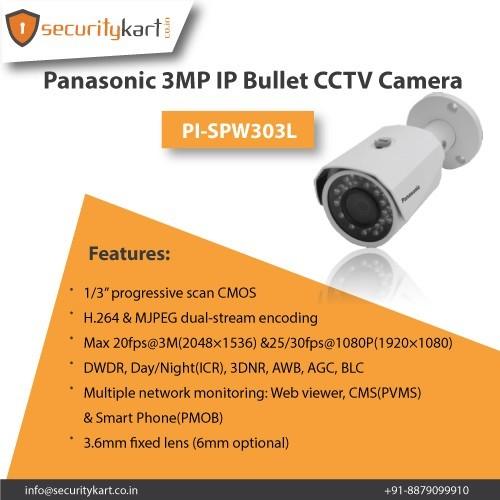 Panasonic (PL-SPW303L) 3 Megapixel IP Bullet CCTV Camera