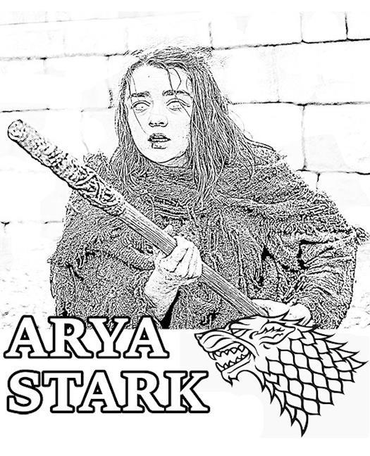 Kolorowanka Arya Stark