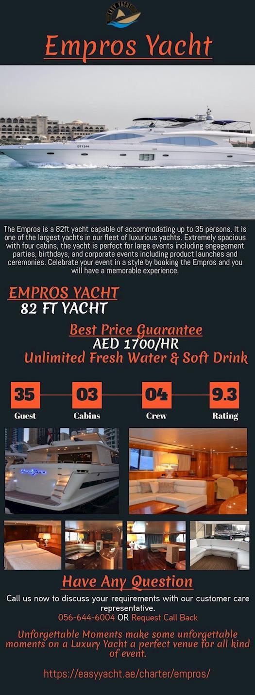 Empros Yacht Rental Dubai   Easy Yacht