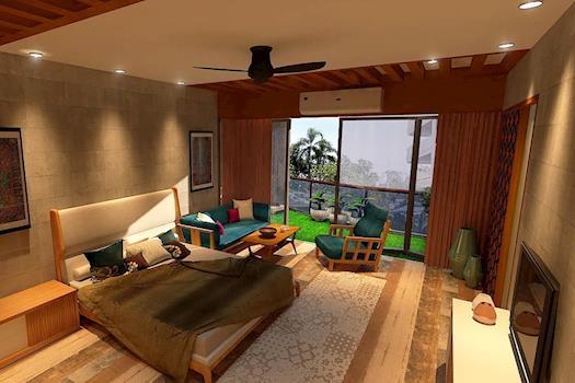Woody Tones Look   Master bedroom