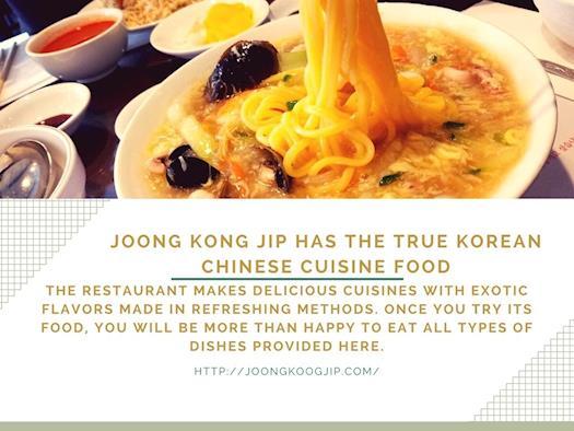 JoongKoogJip for Delicious Chinese Food Menu Bayside