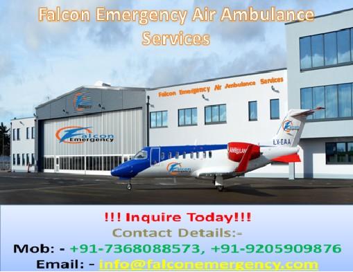 Falcon Emergency Air Ambulance Service in Ranchi
