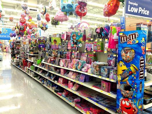Walmart Party Supplies Department