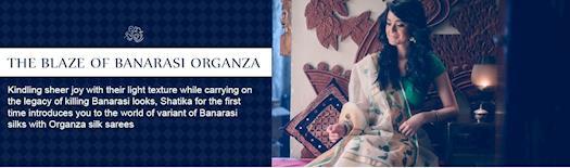 Organza Silk Sarees Online Shopping