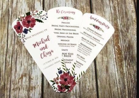Wedding petal fan programs