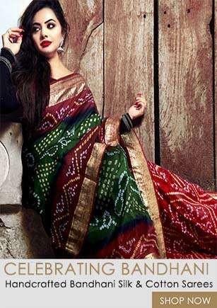 Latest Beautiful Collection of Pure Bandhani Silk Sarees from Unnatsilks