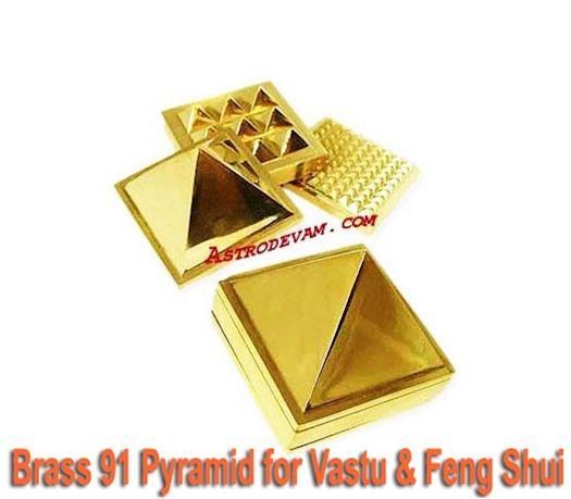 Brass 91 Pyramid for Vastu & Feng Shui