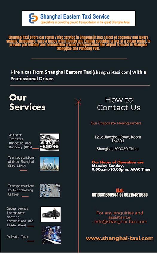 Get a taxi in Shanghai - shanghai-taxi.com