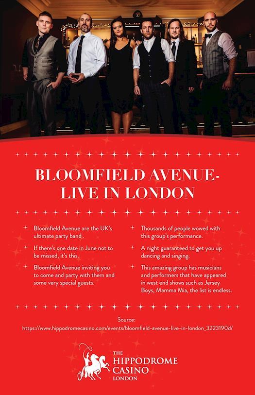 Bloomfield Avenue - Live in London