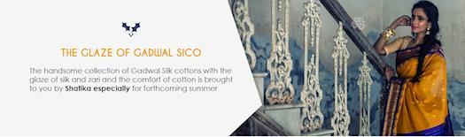 Buy Gadwal Silk Cotton Sarees